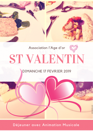 Affiche St Valentin Age d'or